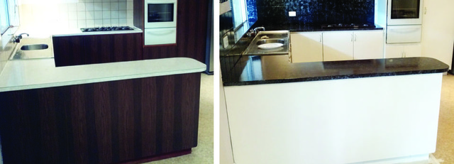 Giani Paint application to a kitchen
