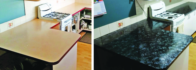 Giani Granite Paint Kitchen Before and After